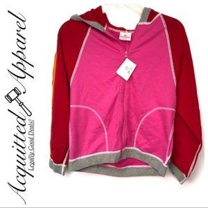 NWT Hanna Anderson Full ZIP Hoodie Jacket Pink Red